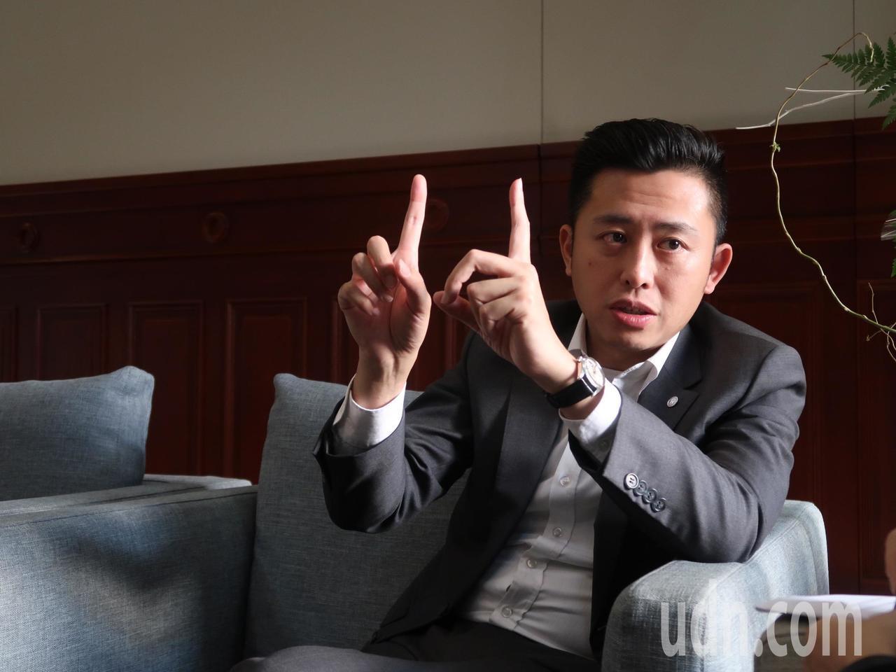 林智堅接受本報專訪。記者郭宣彣/攝影