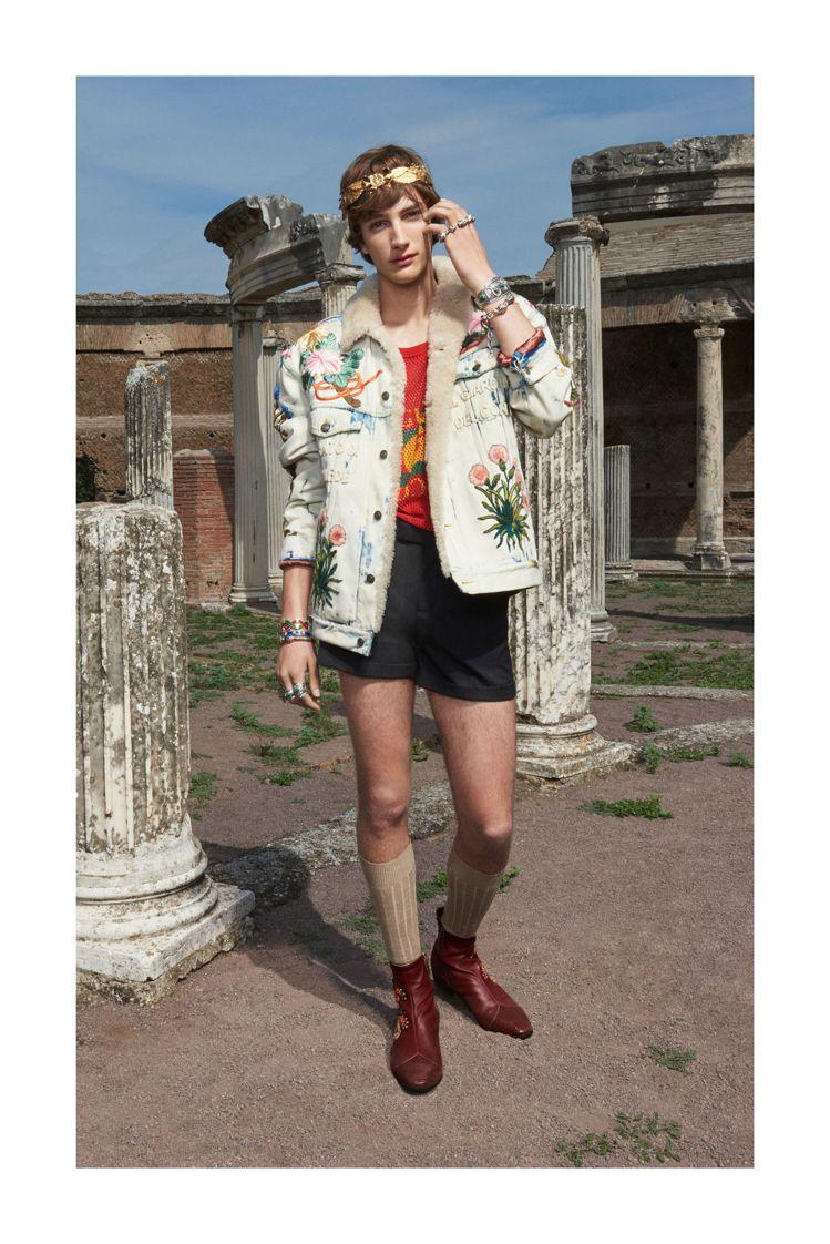 吳亦凡穿的Gucci 2018早春系列夾克。圖/Gucci提供