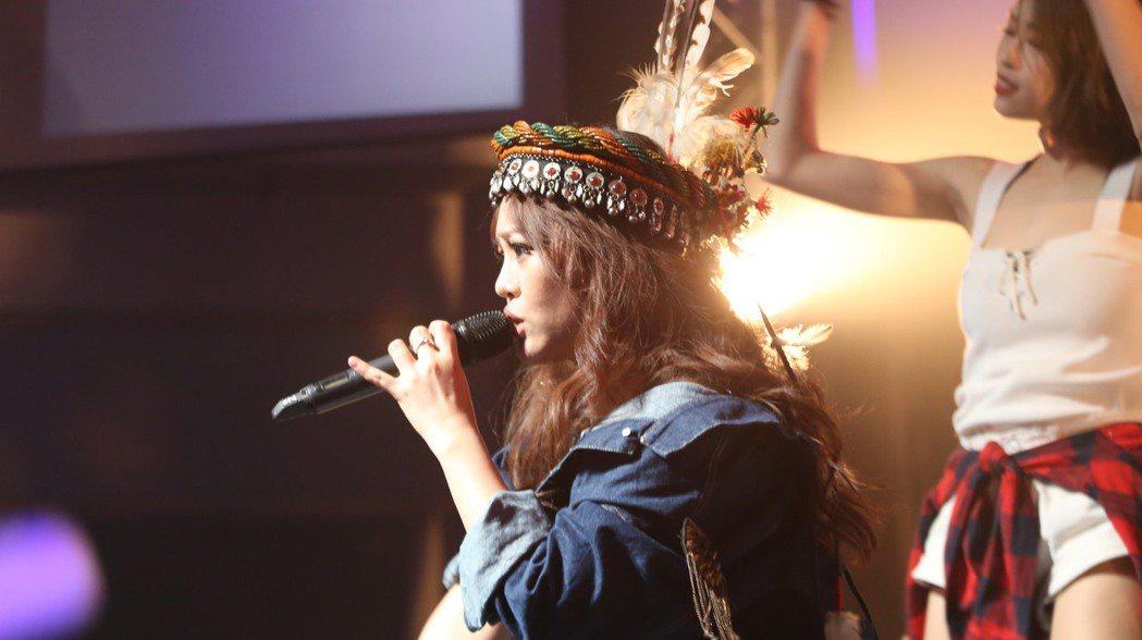 戴愛玲16日在台中開唱。圖/索尼音樂提供