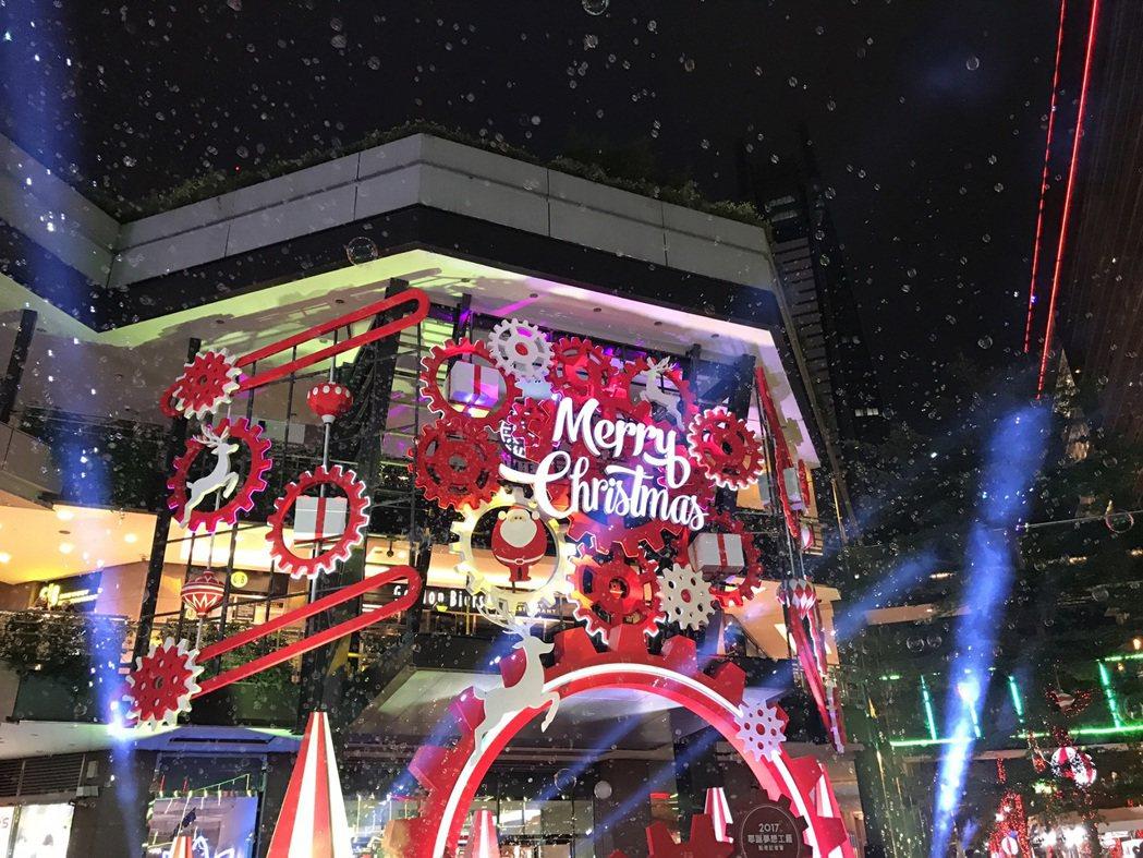 新光三越台北信義新天地的耶誕夢想工廠。圖/新光三越提供