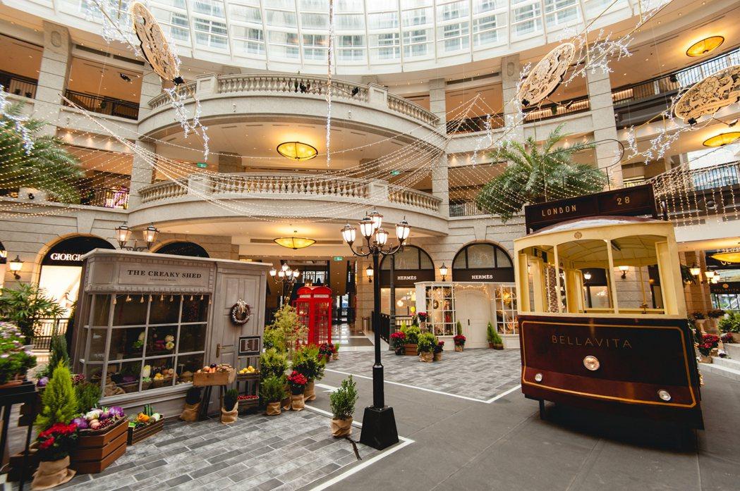 BELLAVITA今年以「寶麗聖誕城事,倫敦舊時光」為耶誕布置主題。圖/BELL...