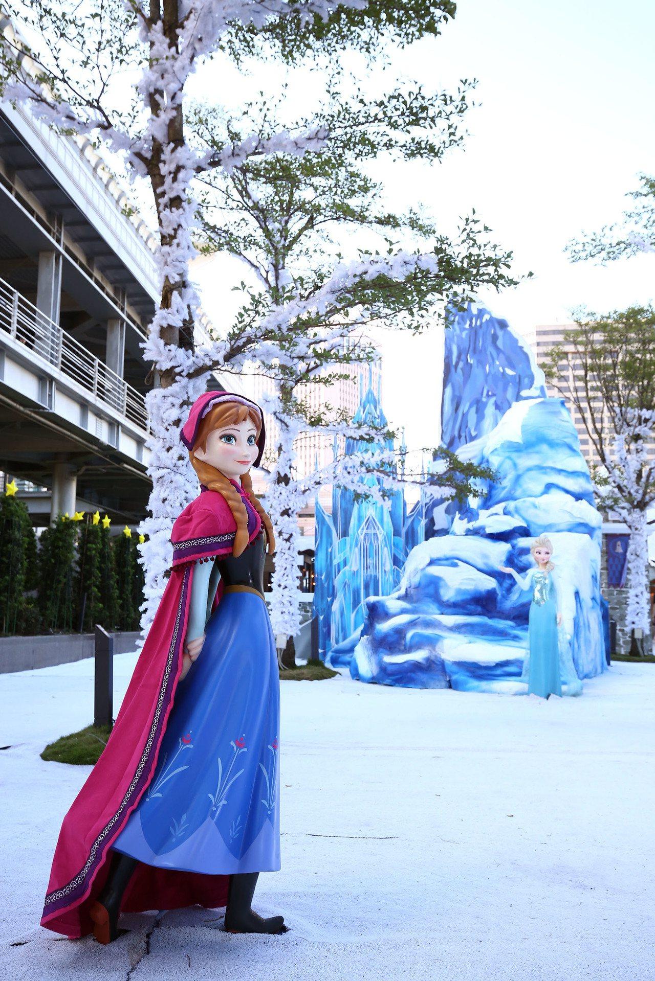 台北101推出「冰雪奇緣嘉年華」。圖/台灣華特迪士尼提供