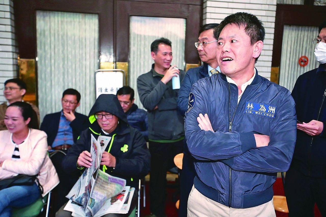 國民黨立法院黨團書記長林為洲(右)。 圖/聯合報系資料照片