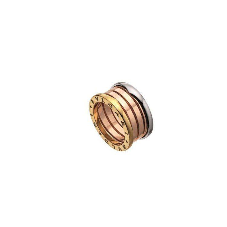 BVLGARI B.zero1三色金戒指,約69,800元。圖/寶格麗提供