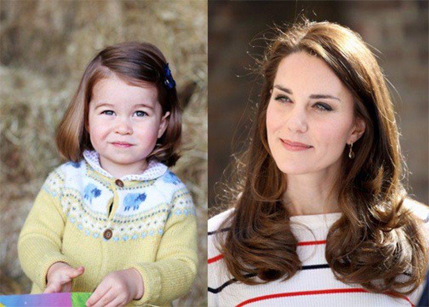 夏綠蒂小公主與母親凱特王妃。路透