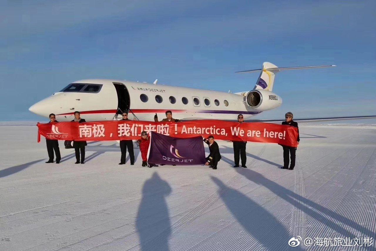 中國一架商用客機16日晚在南極的機場著陸,是首架飛抵南極洲的中國商用飛機。中國的...