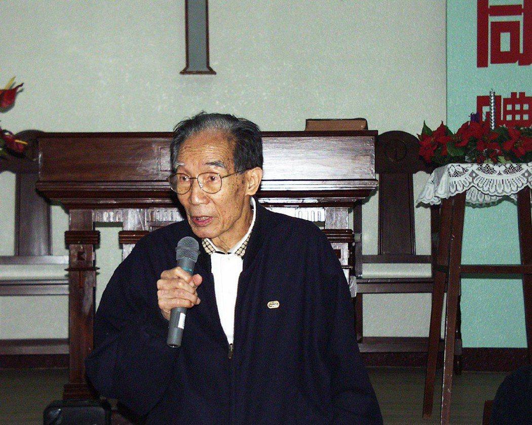 被譽為「烏腳病之父」的已故王金河醫師,攝於2011年獲得日本明治學院大學頒贈榮譽...