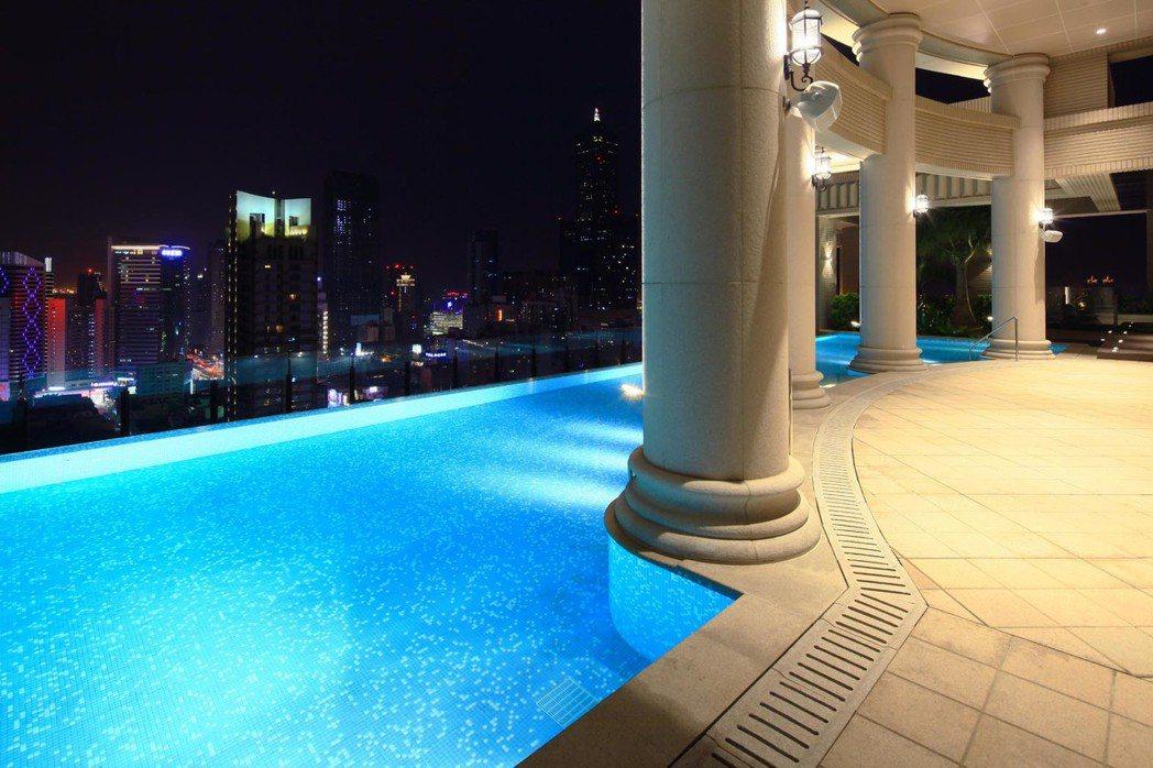 「百立生日公園」頂樓無邊際泳池。 圖片提供/百立建設