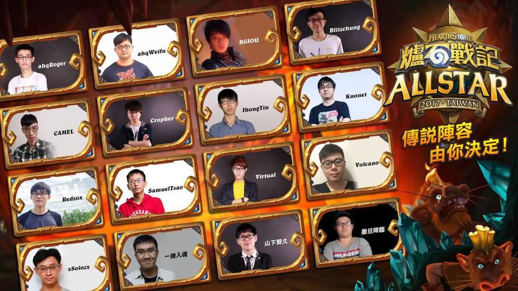 本次明星賽的候選選手,經過玩家投票後選出票數最高的五人參賽。