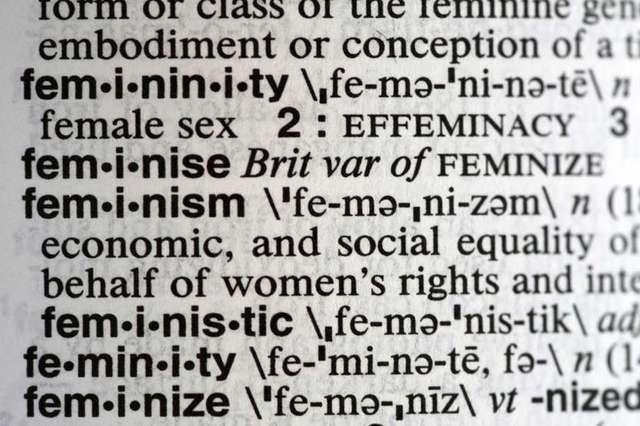 韋氏大辭典選擇的代表字是「Feminism」。(圖/美聯社)