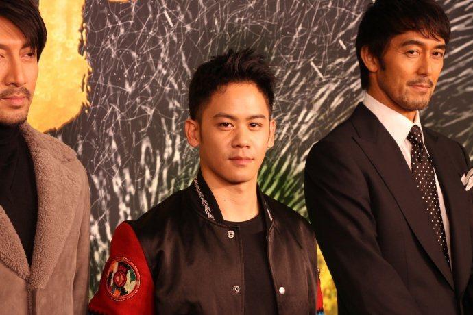 李淳與阿部寬出席「妖貓傳」北京首映。圖/摘自微博