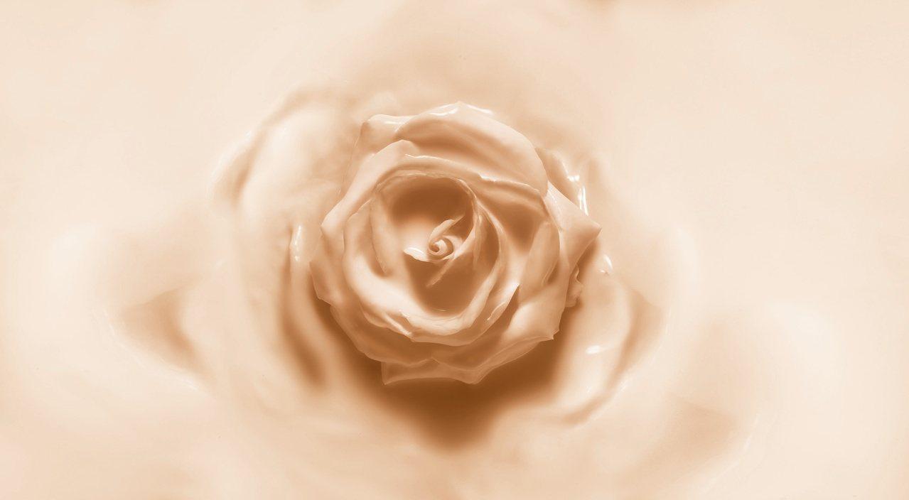 每一支「精萃再生花蜜氣墊粉餅」皆蘊涵500朵岡維拉玫瑰花瓣的賦活修護能量。圖/迪...