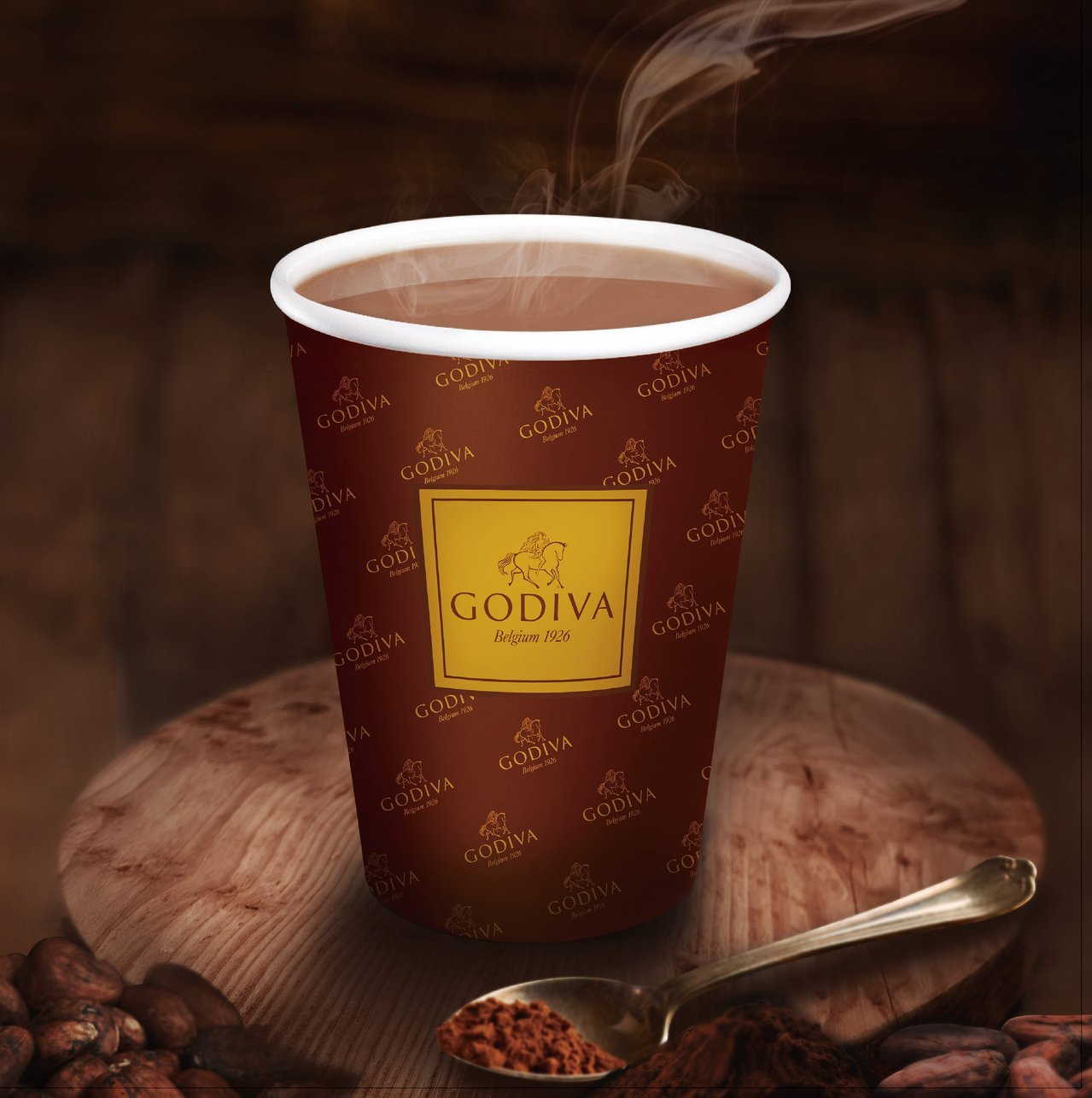 GODIVA經典熱巧克力每杯99元、限量50萬杯。圖/7-ELEVEN提供