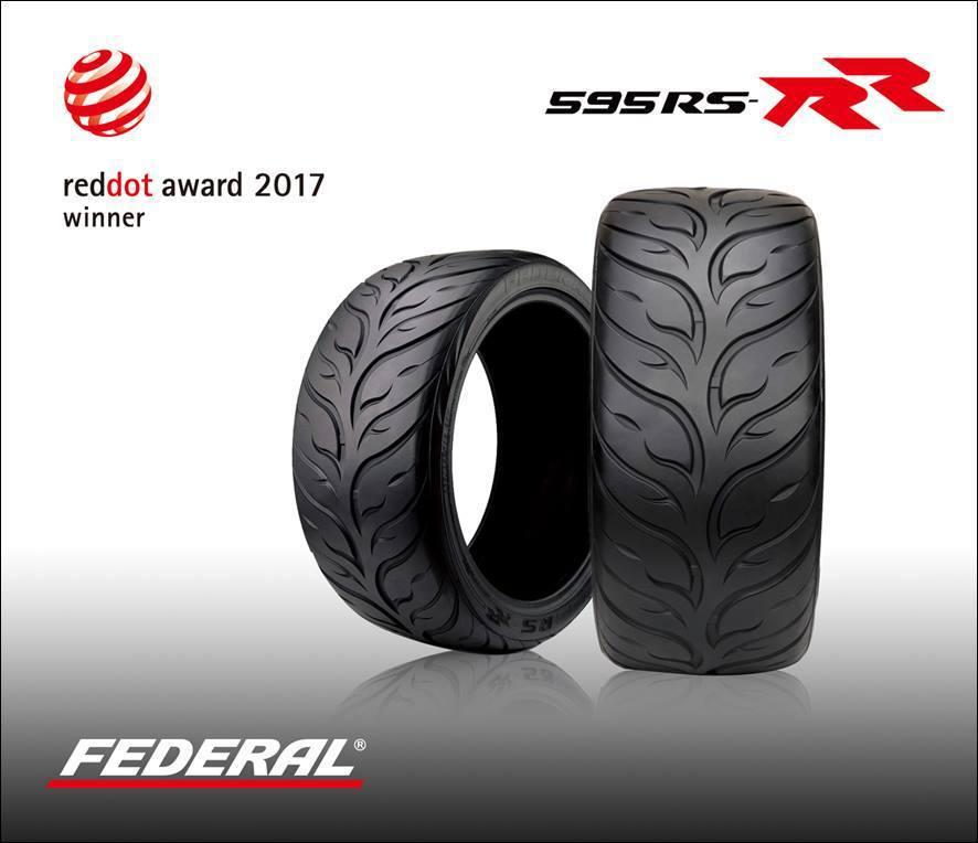 獲得本屆德國紅點設計大獎的飛德勒595RS-RR輪胎。(泰豐提供)