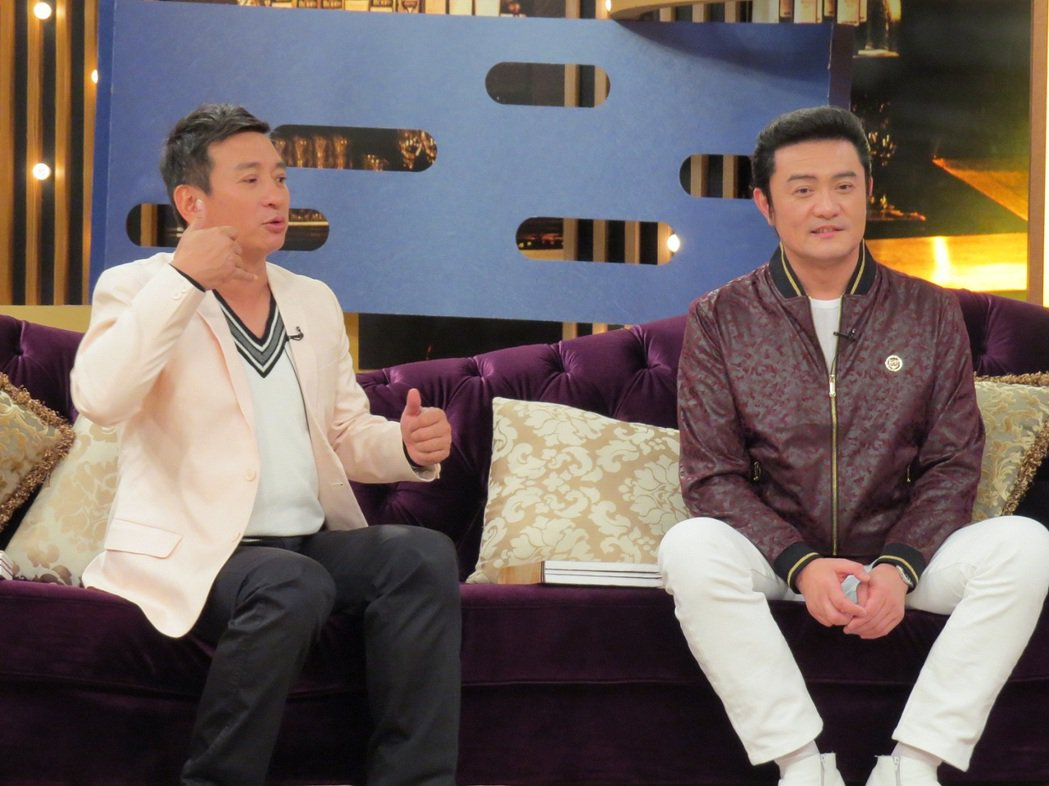 王中平(左)跟李㼈(右)交情超過20年。圖/衛視中文台提供