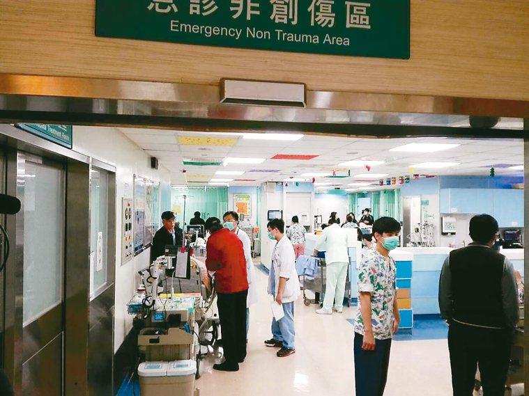 冷氣團報到,彰化各大醫院急重症病人增加。 圖/彰基提供