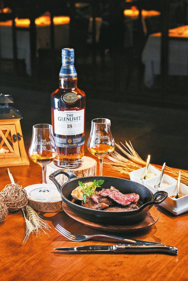 格蘭利威18年單一麥芽威士忌客製化套餐。 圖/台灣保樂力加提供