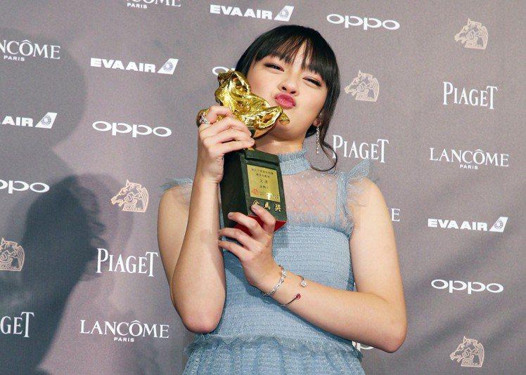 第五十四屆金馬獎,最佳女配角獎由文淇獲得。圖/記者陳正興攝影