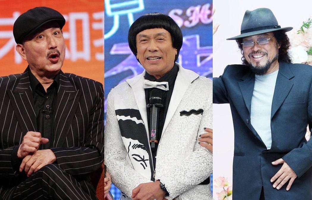 余天(左起)、豬哥亮、張菲是綜藝圈裡的大哥。圖/本報資料照