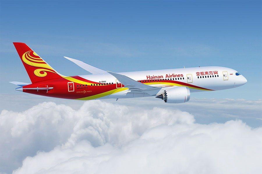 大陸海航集團旗下的海南航空客機。圖/取自海南航空
