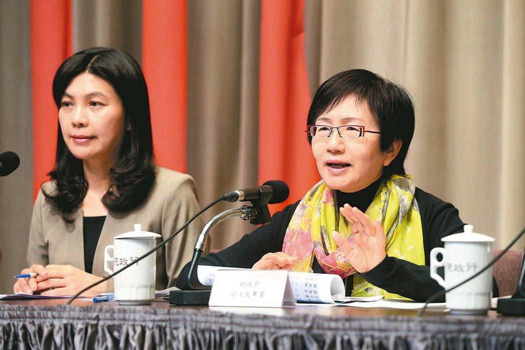 行政院昨天舉行加速投資台灣第六次會議後記者會,行政院副發言人張秀禎(左)、財政部...