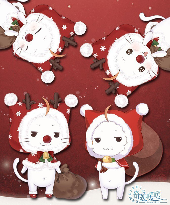 裝扮成麋鹿的大喵陪伴搭配師一同歡度聖誕!