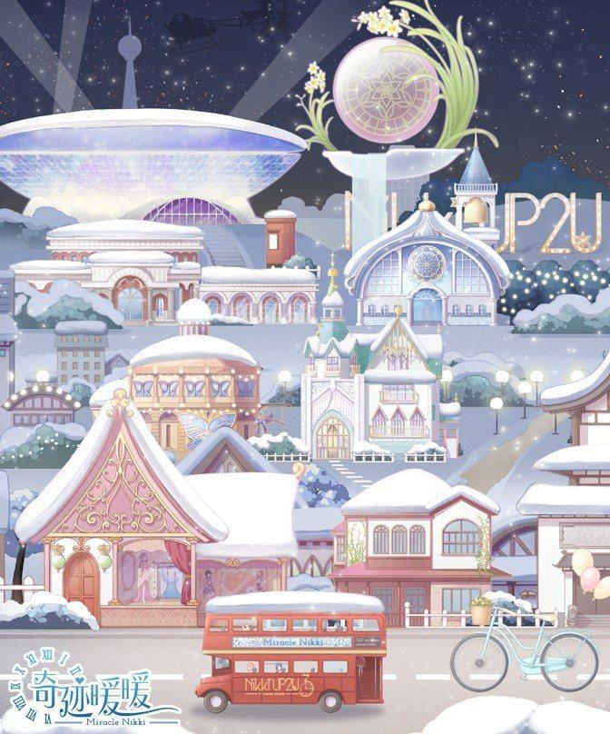 迎接聖誕節,《奇迹暖暖》主介面也降下了靄靄白雪。