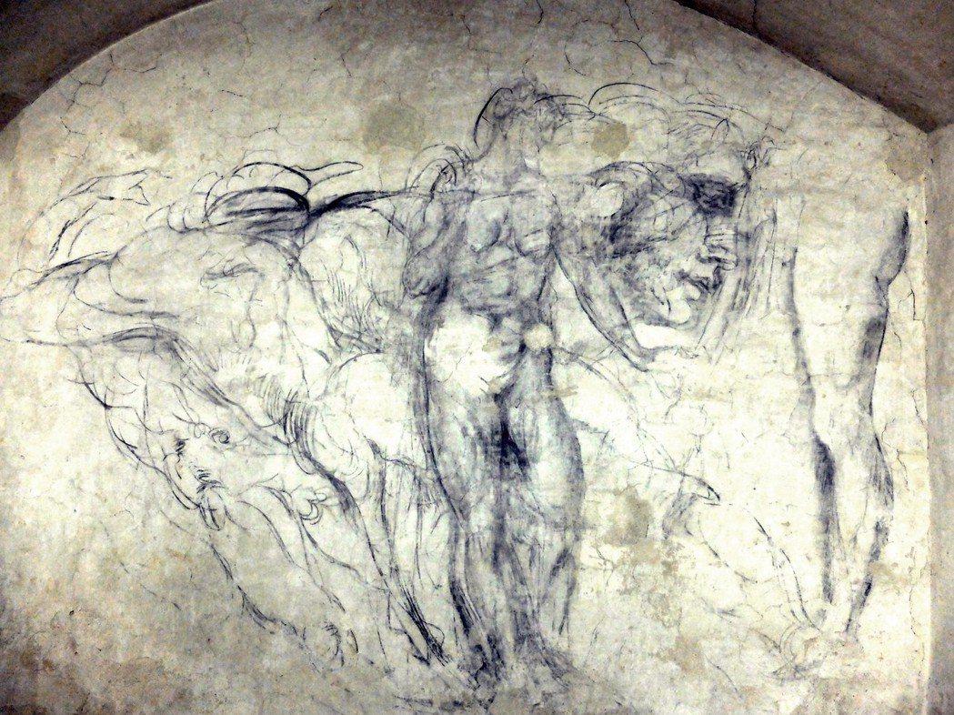小聖堂當時的管理人達波傑托深信,這幾道簡單筆畫構成的人體圖像,應該是出自米開朗基...