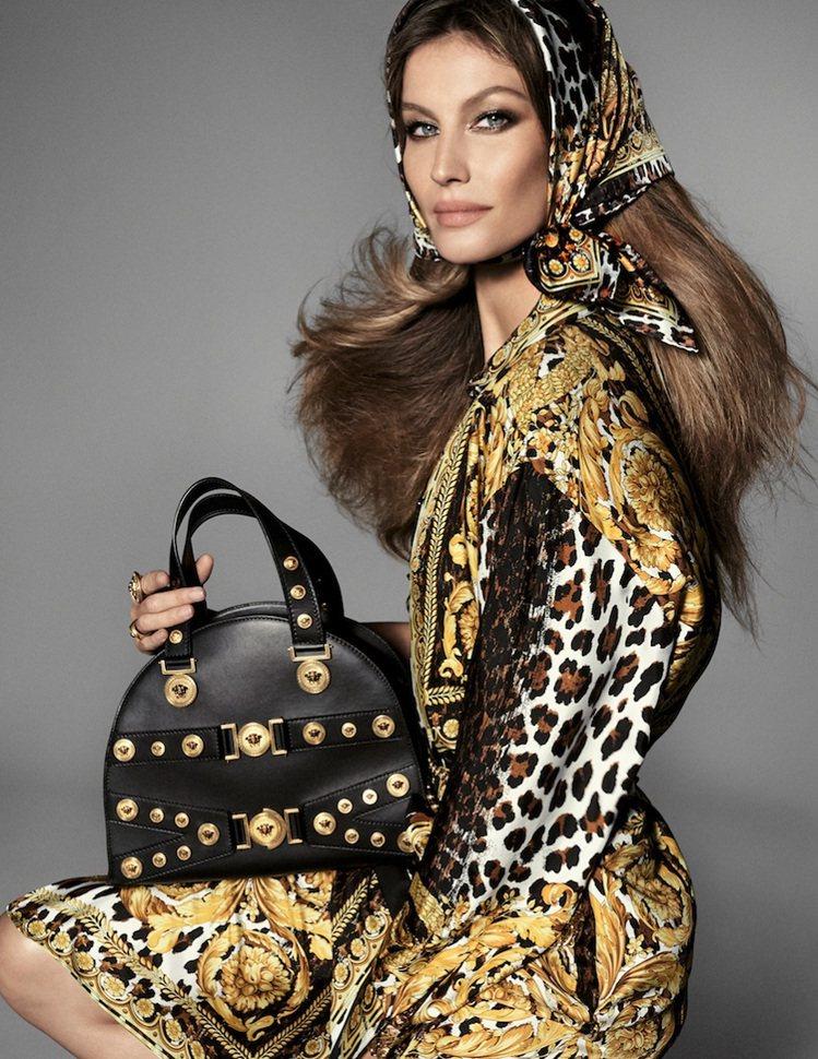 巴西超模吉賽兒邦臣入鏡Versace 2018春夏形象廣告。圖/Versace提...