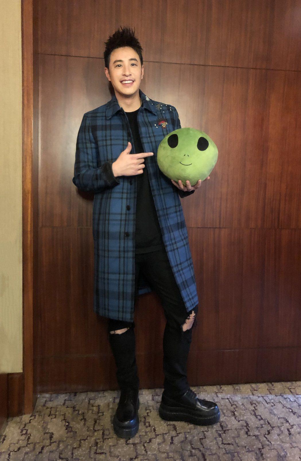 潘玮柏20日到会北京「全球流行音乐金榜金曲发布会」。图/华纳音乐供给