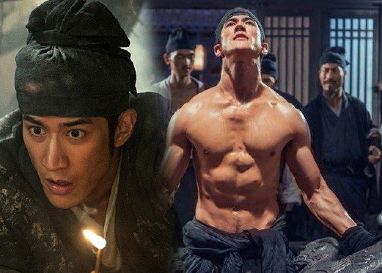 李治廷在「奇門遁甲」演捕快,練出強壯體格。圖/翻攝自YouTube