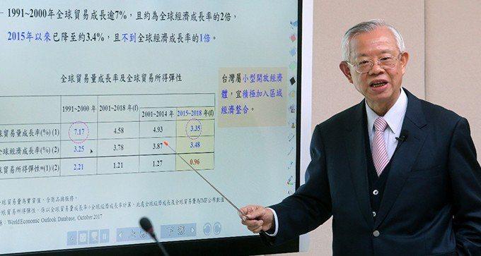 中央銀行理監事會議結束後,彭淮南舉行記者會,並準備大量資料,詳述台灣金融匯率等財...