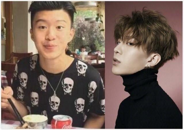 網友搜出范冰冰與弟弟(左)昔日合照。 圖/擷自微博。
