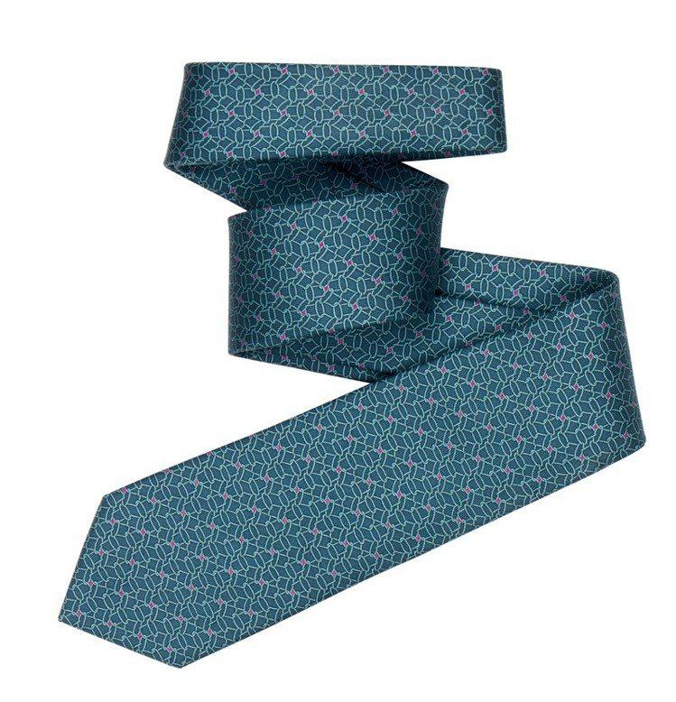 Chapeau Bas! 圖紋印花7 公分斜紋真絲領帶;售價6,800。 圖/H...