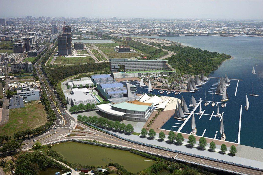 安平港遊艇碼頭完工模擬圖。 市政府/提供