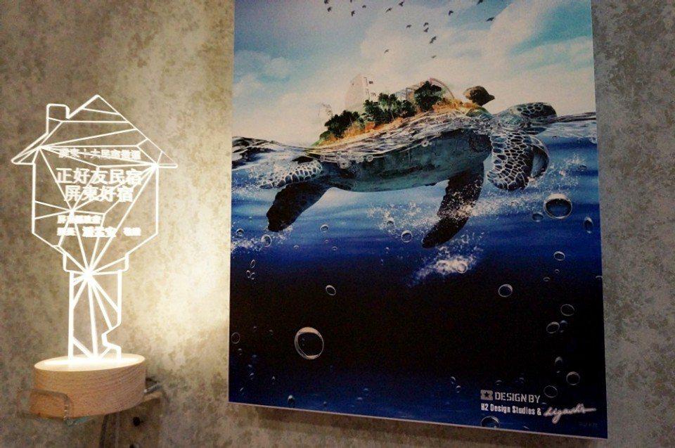 海龜揹著琉球島,隱含許多未盡之語。(攝影/林郁姍)