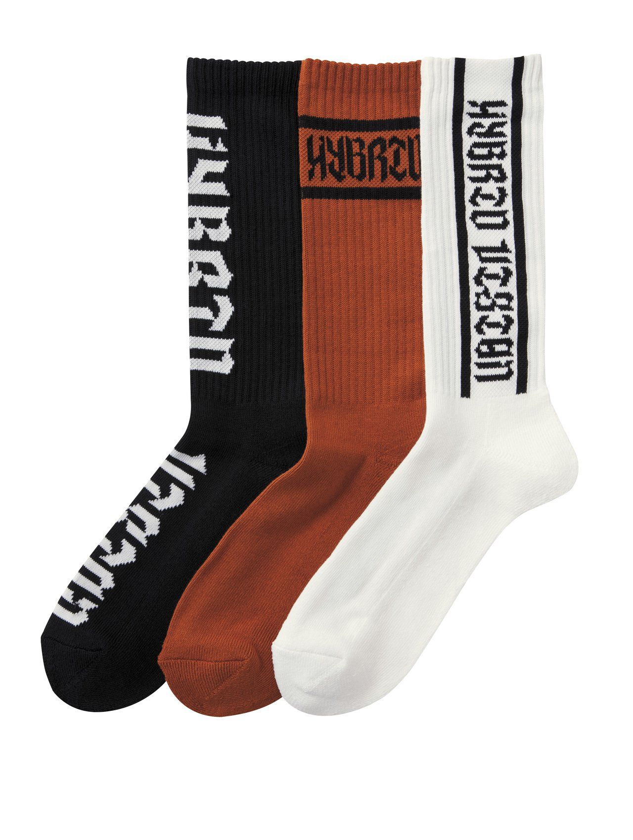 GU「HYBRID TOKYO」系列襪子3雙裝190元。圖/GU提供