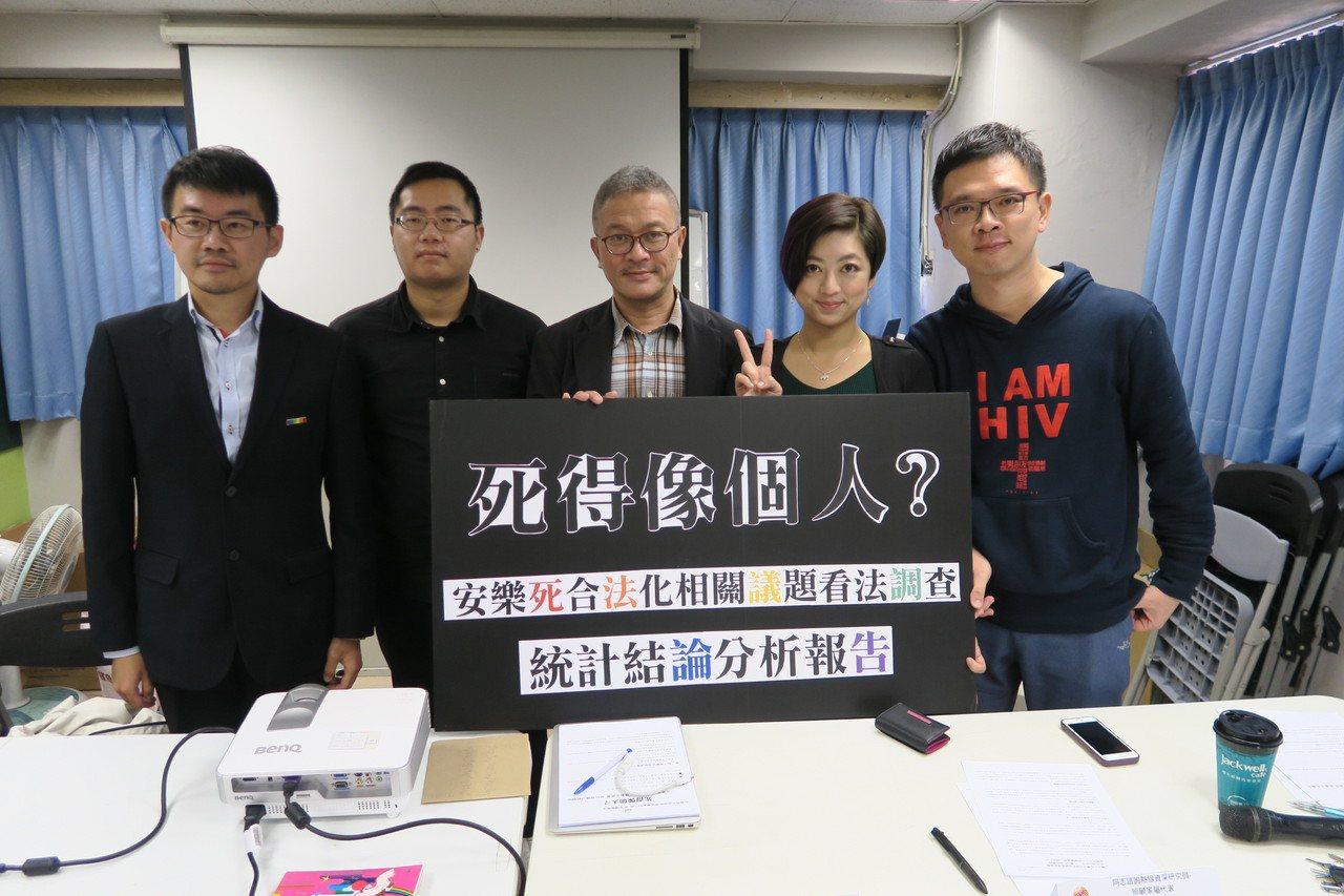 台灣同志諮詢熱線協會(熱線)今天公布「安樂死合法化相關議題看法調查」。圖/台灣同...