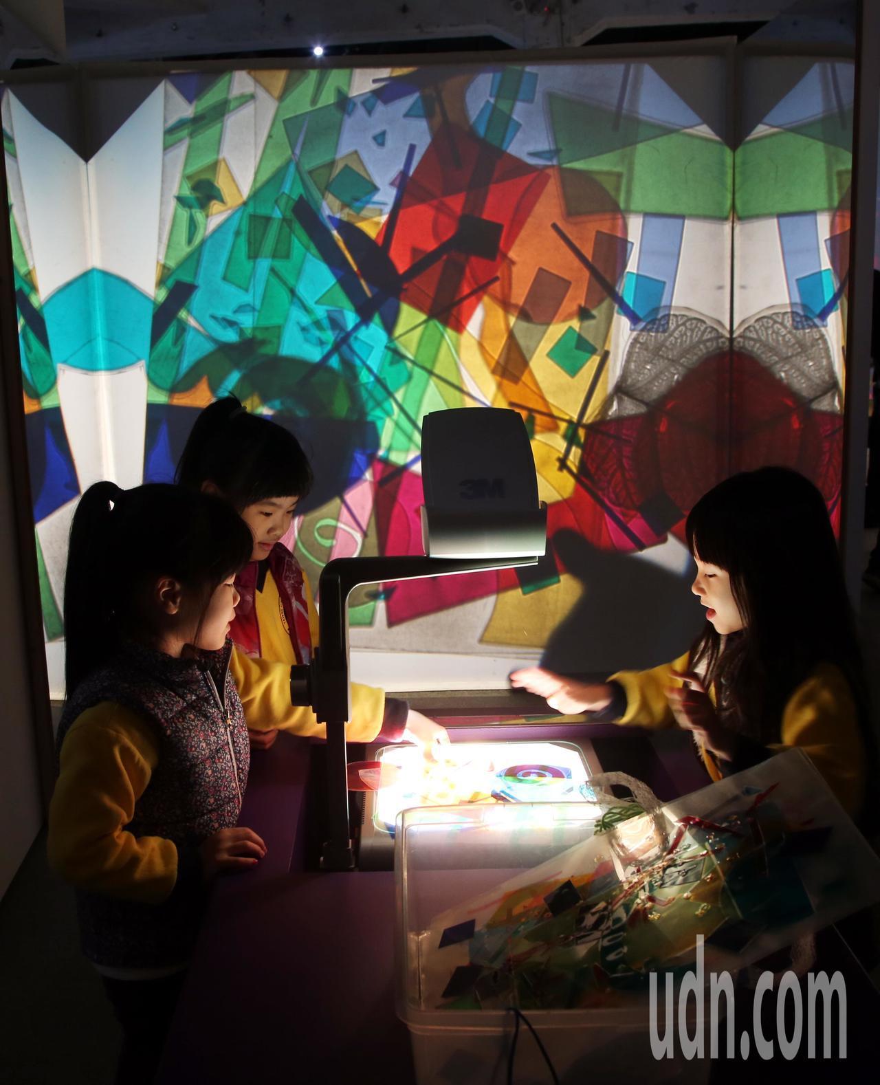 由聯合數位文創所舉辦的「巴黎龐畢度 兒童藝術工作坊」開幕,讓小朋友在玩樂中學習。...
