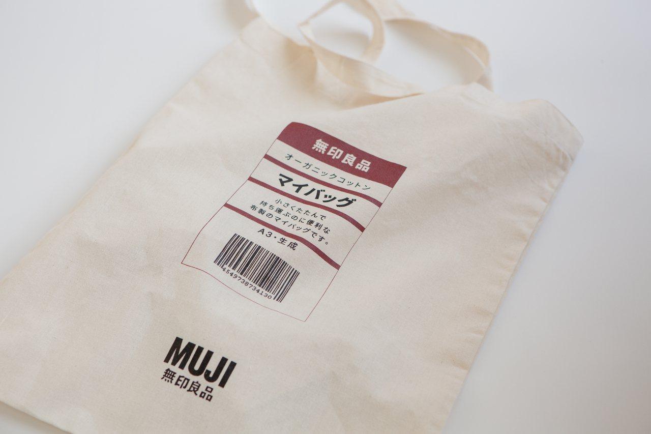 MY BAG購物袋特別向日本申請商品標籤圖樣。圖/無印良品提供