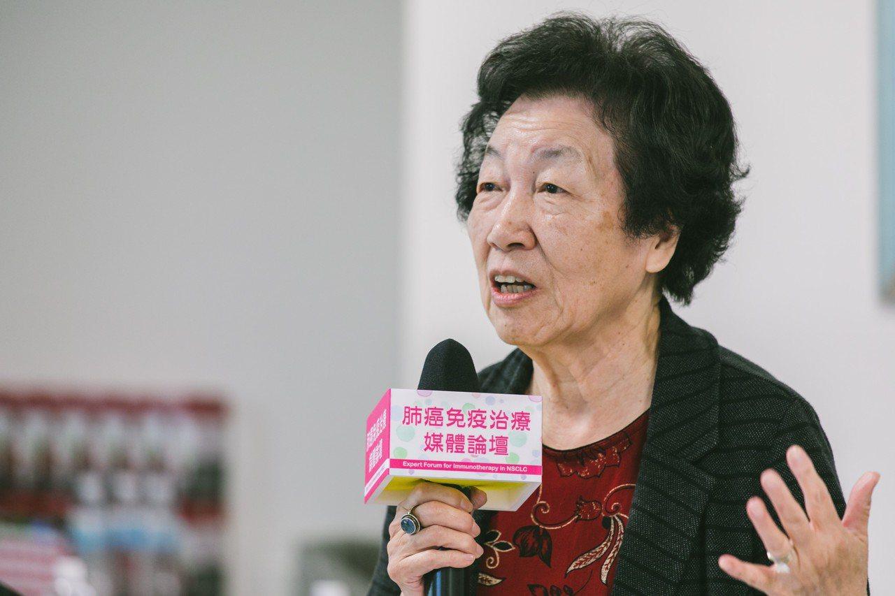 台灣癌症基金會副董事長彭汪嘉康院相當期待免疫療法對於晚期肺癌的治療效果,確實讓晚...