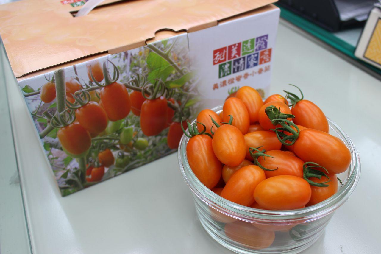 美濃橙蜜香番茄上市,郵政商城今天起開賣。圖/高雄郵局提供