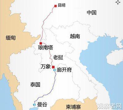 「中泰鐵路」21日正式動工,未來全線貫通後,大陸民眾將可從雲南昆明搭火車直達泰國...