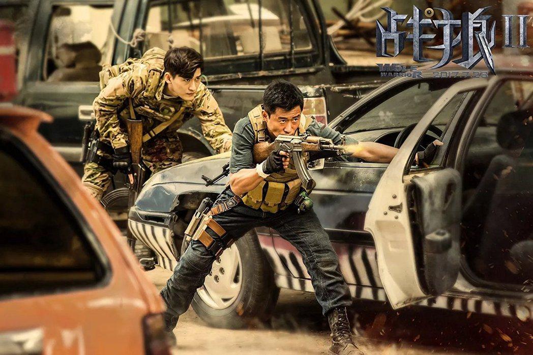 「戰狼2」光靠大陸票房就擠進全球年度最賣座前10名。圖/摘自imdb