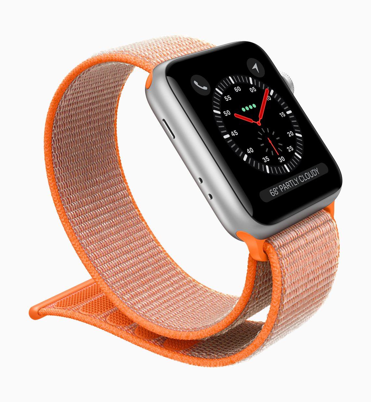 Apple Watch Series 3支援Apple Pay。圖/蘋果提供