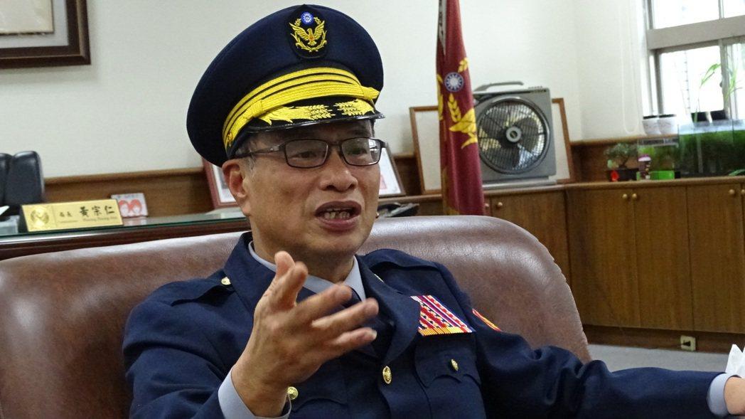 台南市政府警察局長黃宗仁。記者謝進盛/攝影