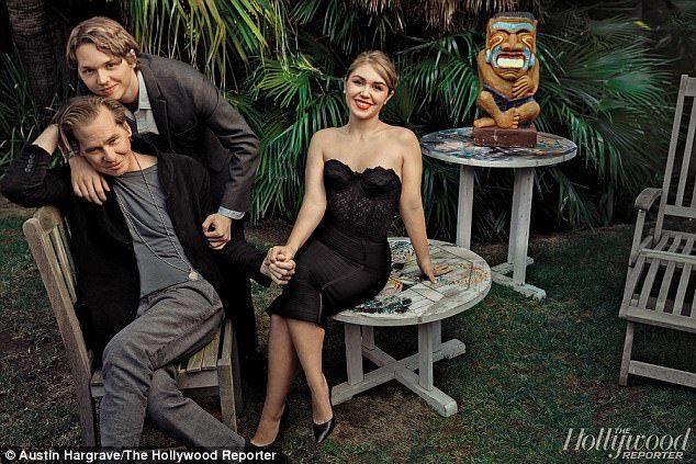 方基墨和兒女一起接受「好萊塢報導」訪問。圖/摘自Hollywoodreporte...
