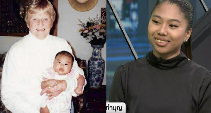 圖為祖母抱時嬰孩時期的艾瑞卡(左)與幸運得到巨額遺產的艾瑞卡。圖擷自coconu...