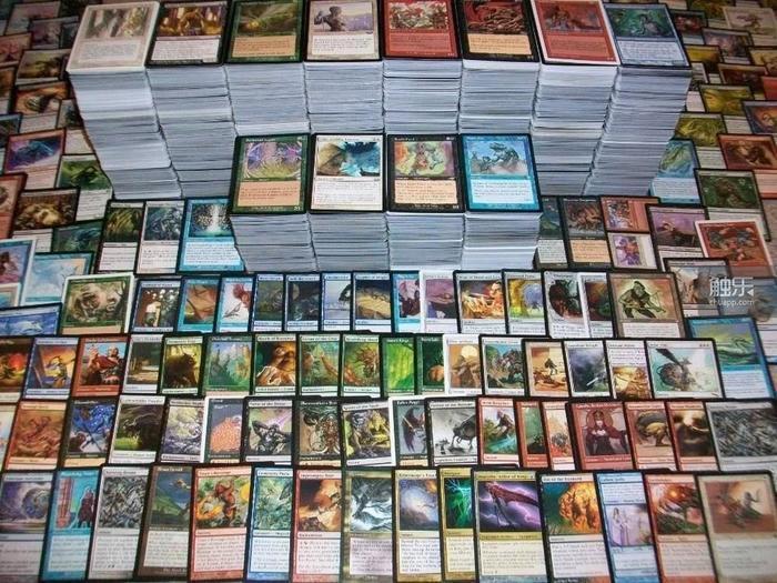 對於任何一個《魔法風雲會》的玩家來說,這樣的收藏都只是他所有牌的冰山一角。