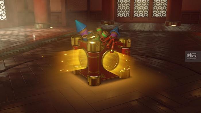 《鬥陣特攻》的春節補給箱有著喜慶的色彩。
